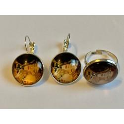 Conjunto pendientes y anillo