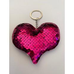 """Llavero """"Corazón Rosa """""""